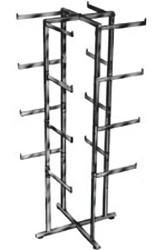 4 WAY LINGERIE RACK RECTANGULAR ARMS