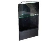 Economy Corner Filler with glass top and shelf