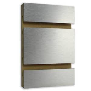 High Pressure Laminate Brushed Aluminum Slatwall Hpl