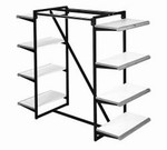 CLOTHING SHELF RACK