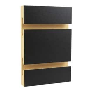 Black Melamine Slatwall Black Slatwall Panels Slatwall