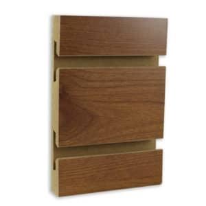 Nutmeg Cherry Melamine Slatwall Slot Board Wall