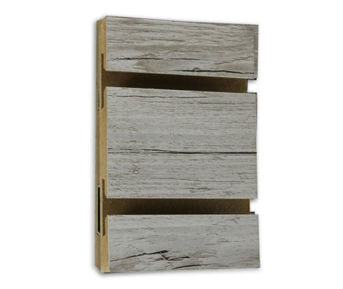 Weathered Barnwood Melamine Slatwall Slatwall Panels