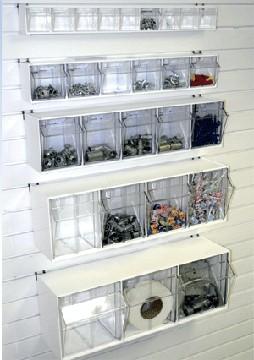 Slatwall Tilt Bins Pegboard Tilt Storage Tip Out